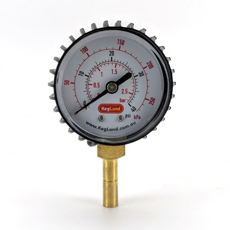 Push in Pressure Gauge 0-40PSI, Duotight 8mm Compatible, inline pressure, spunding valve, adjustable pressure relief valve