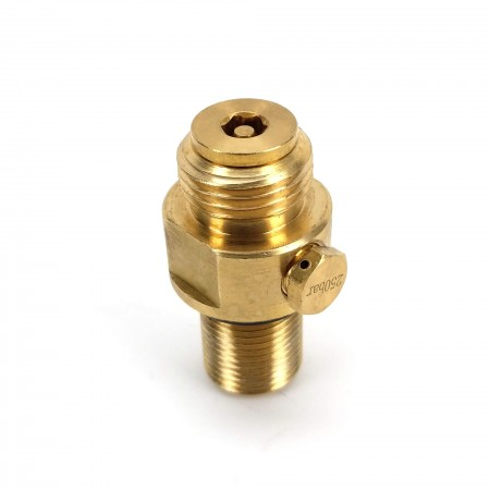 This brass Sodastream Cylinder Replacement Valve will replace any standard Sodastream Cylinder or KegLand Sodastream Type cylinder.