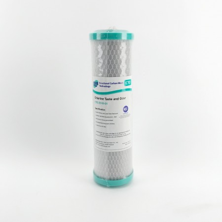 "1 MICRON 100% COCONUT CARBON BLOCK WATER FILTERS 10"" X 2.5"" GT4-6CTO - NSF and Watermark Approved"